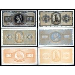 Greece - Occupation - Bank of Greece 1942 Inflation Issue Progress Proofs.