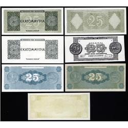 Greece - Occupation - Bank of Greece 1944 Inflation Issue Progress Proofs.