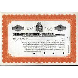 Canada - Durant Motors of Canada, Limited, Specimen.