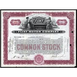 Michigan - Flint Motor Co. Stock Certificate.