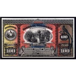 Guatemala - Guatemala, Banco de Occidente,100 Pesos, Specimen