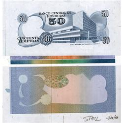Honduras - Banco Central De Honduras Progress Proof Sheets With Color Separations.