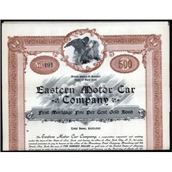 New York - Eastern Motor Car Company, 1905 $500 Bond.