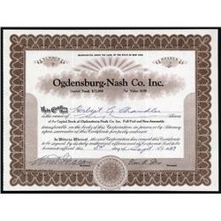 New York - Ogdensburg- Nash Co. Inc.