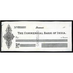 India - Commercial Bank of India, Specimen Check.