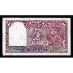 india - Reserve Bank of India, 1943 Issue.