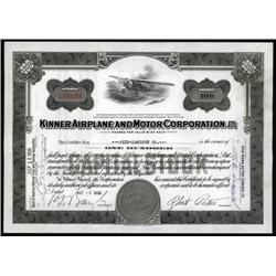 California - Kinner Airplane and Motor Corp., Ltd.