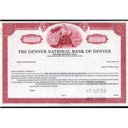 Colorado - Denver National Bank of Denver.