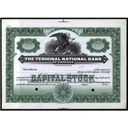 Illinois - Terminal National Bank of Chicago Stock Cert.