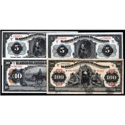 Mexico - Banco Del Estado De Chihuahua, Decree of 1913 Banknote Quartet.