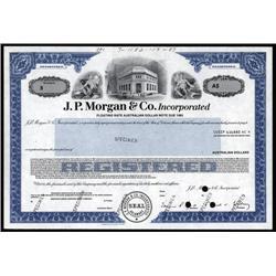 New York - J. P. Morgan & Co. Inc. Specimen Stock.