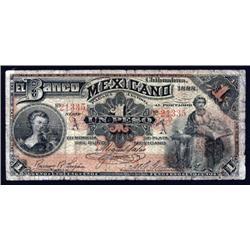 Mexico - El Banco Mexicano, 1888 Issue.