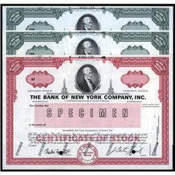 New York - Bank of New York Specimen Trio.