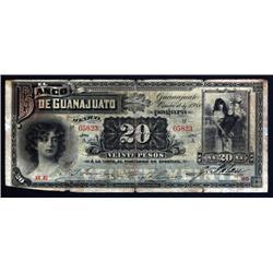 Mexico - Banco De Guanajuato, 1900 Issue Banknote.
