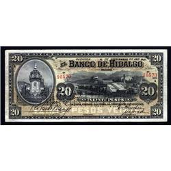 Mexico - Banco De Hidalgo, 1902-14 Issue.