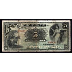 Mexico - Banco De Morelos, 1903 Issue Specimen.