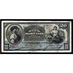 Mexico - Banco De Morelos, 1903 Issue Banknote.