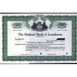 Pennsylvania - National Bank of Lansdowne.