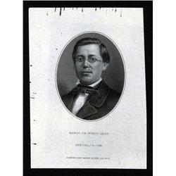 Mexico - Banco De Nuevo Leon, Proof Portrait of L. Zaragoza.