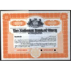 Pennsylvania - National Bank of Olney.