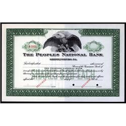 Pennsylvania - Peoples National Bank.