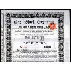 England - The Stock Exchange, (England), 1899, London.
