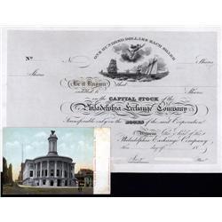 Pennsylvania - Philadelphia Exchange Company, 18xx (1830's) Issue Proof Stock.