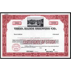 Minnesota - Theo. Hamm Brewing Co. Stock Cert.