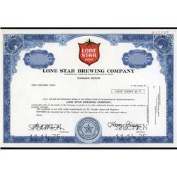 Texas - Lone Star Brewing Company Specimen Stock.