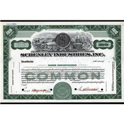 - Schenley Industries, Inc. Stock Cert.