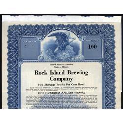 Illinois - Rock Island Brewing Co., Specimen Bond.