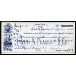 Mexico - Arturo Peirce 2nd of Exchange for Henry Peabody & Co..