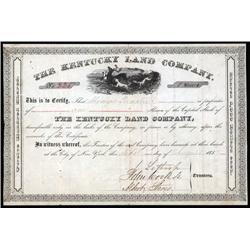 Kentucky - Kentucky Land Co. Stock Certificate.