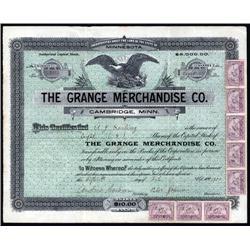Minnesota - Grange Merchandise Co., Stock Certificate.
