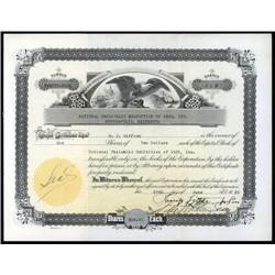 Minnesota - National Philatelic Exhibition of 1929, Inc. Stock Certificate.