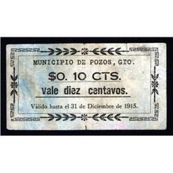 Mexico - Municipio De Pozos, Gto., Revolutionary Scrip Note.