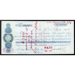 Mexico - Sres. Lavie y Ca. de Mexico $1000 Pesos Oro Issued 1st Bill of Exchange.