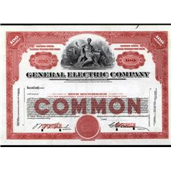 New York - General Electric Co. Stock Cert.