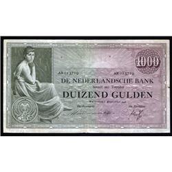 Netherlands - De Nederlandsche Bank, 1000 Gulden, 1938 Issue Banknote.