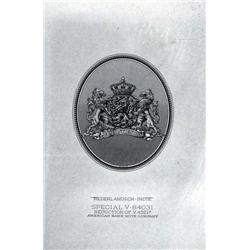 Netherlands Indies - Nederlandsch-Indie, 1943 Muntbiljetten Issue Proof Arms Used on ABNC Banknotes.