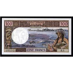 New Hebrides - Institut D'Emission D'Outre-Mer, Nouvelles Hebrides, 1970 ND Series Banknote.