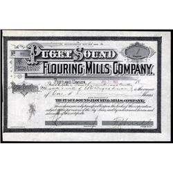 Oregon  - Puget Sound Flouring Mills Co. Stock Certificate.