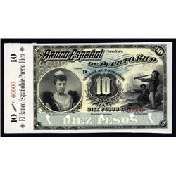 Puerto Rico - Banco Espanol De Puerto Rico, 1894 Series D Issue Proof.
