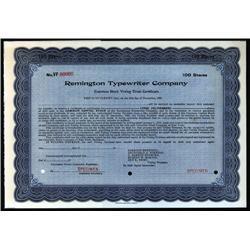 - Remington Typewriter Co. Stock Cert.
