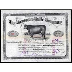 Colorado - Reynolds Cattle Co. Stock Certificate.