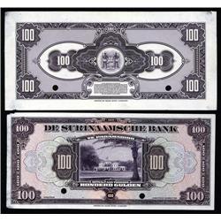 Surinam - De Surinaamsche Bank, 1940-42 Issue Proof Banknote.