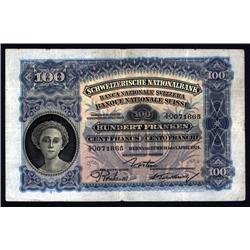 Switzerland - Schweizerische Nationalbank (Resumed), 1921-28 Issue.