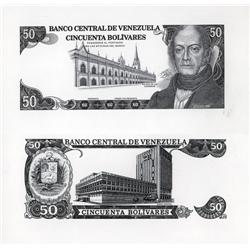 Venezuela - Banco Central De Venezuela, 1981-1990 Issue Color Trial Essay By ABNC.