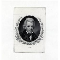 - Andrew Jackson Large Die Proof Portrait.