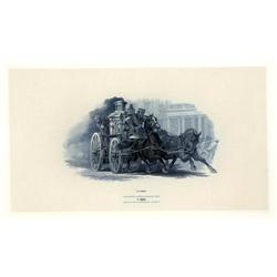 - Speeding Horse Drawn Fire Wagon Proof Vignette.
